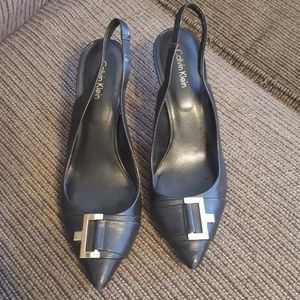 Calvin Klein slingback heels